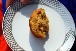banana muffin on plate