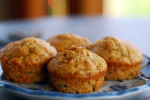 apple muffins on plate