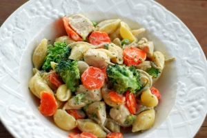 pasta with vegetables and chicken 3