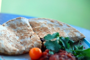 quesadillas with salsa
