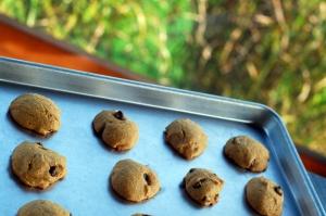 pumpkin cookies on sheet 1