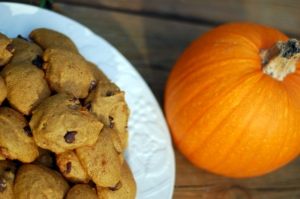 pumpkin cookies with pumpkin