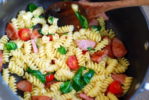 pasta meal in pot