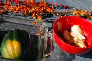 acorn squash and apple slices