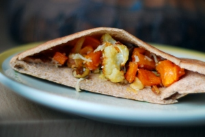 vegetables in pita