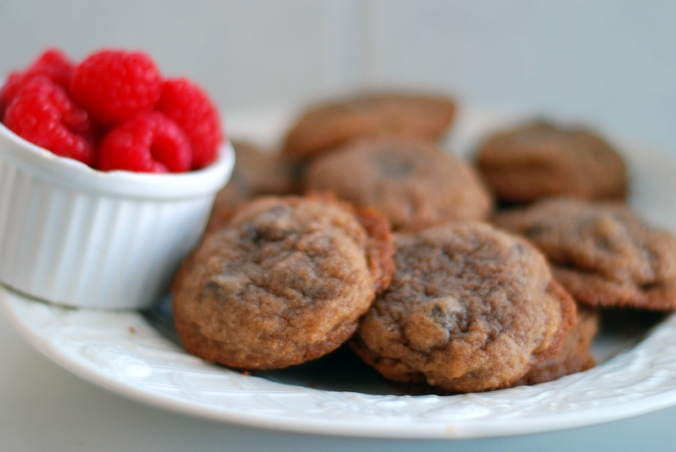 cookies and raspberries
