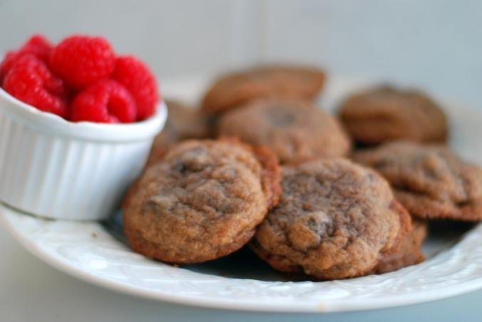 cookies and raspberries