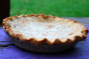 cherry pie on the porch