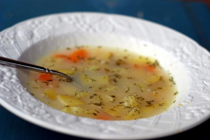 golden soup in bowl 2