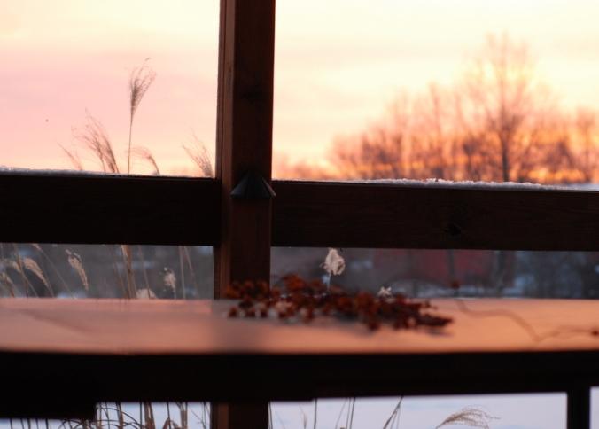 sunrise on porch