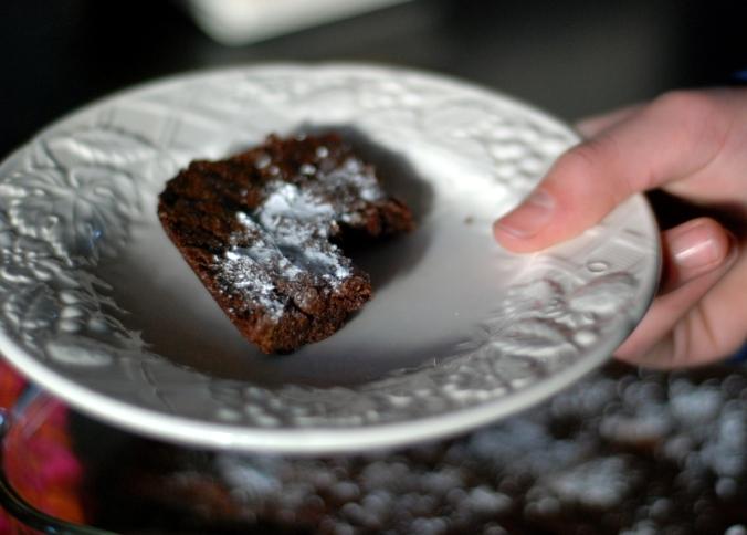 brownie on plate 2