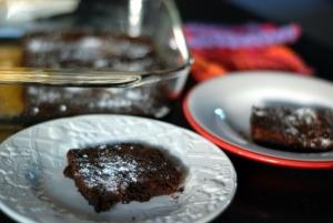 brownie on plate 4