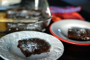 brownie on plate 4