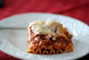 lasagna on plate 6